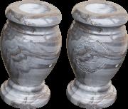 Grey Wave Marble Vase